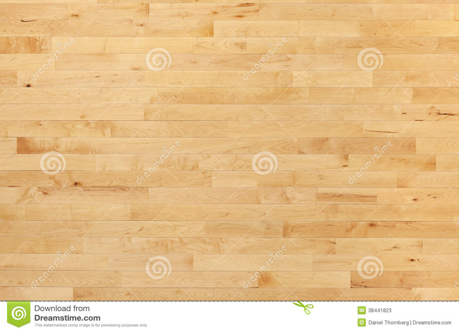 Piso de la cancha de básquet de la madera dura visto desde arriba