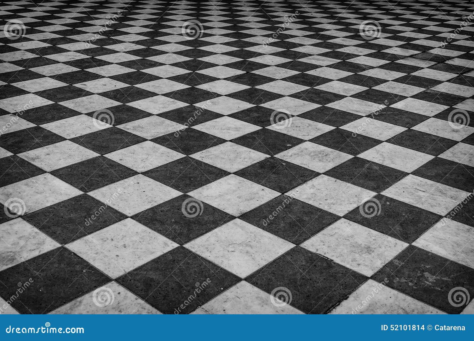 Piso de m rmol a cuadros blanco y negro foto de archivo for Piso marmol negro