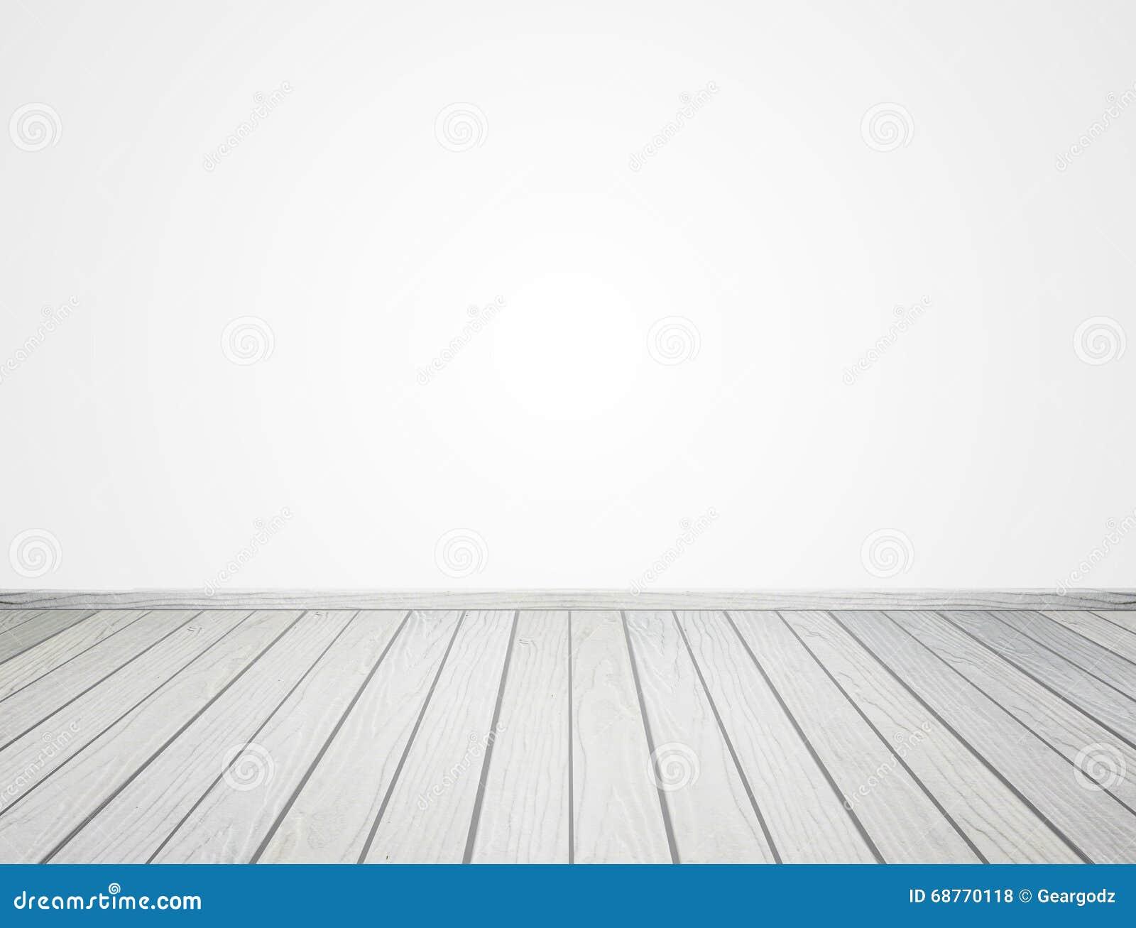 piso de madera blanco en el fondo blanco stock de