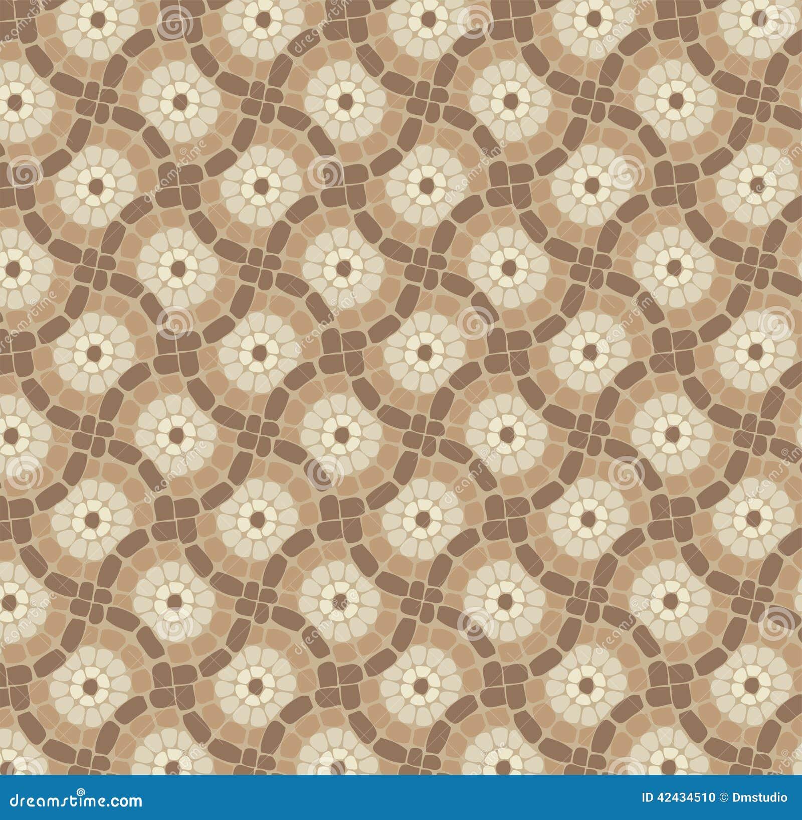 Piso de mosaico, modelo de piedra del fondo