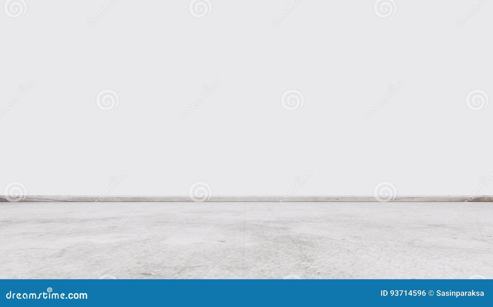 Piso de piedra de mármol blanco con la pared blanca, espacio vacío interior