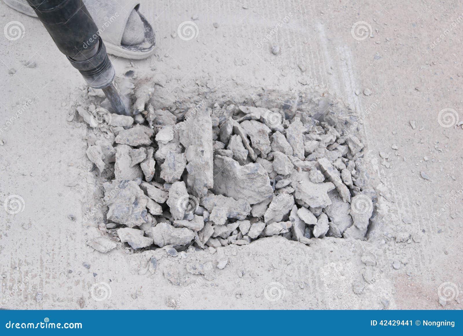 Piso del cemento de la perforación