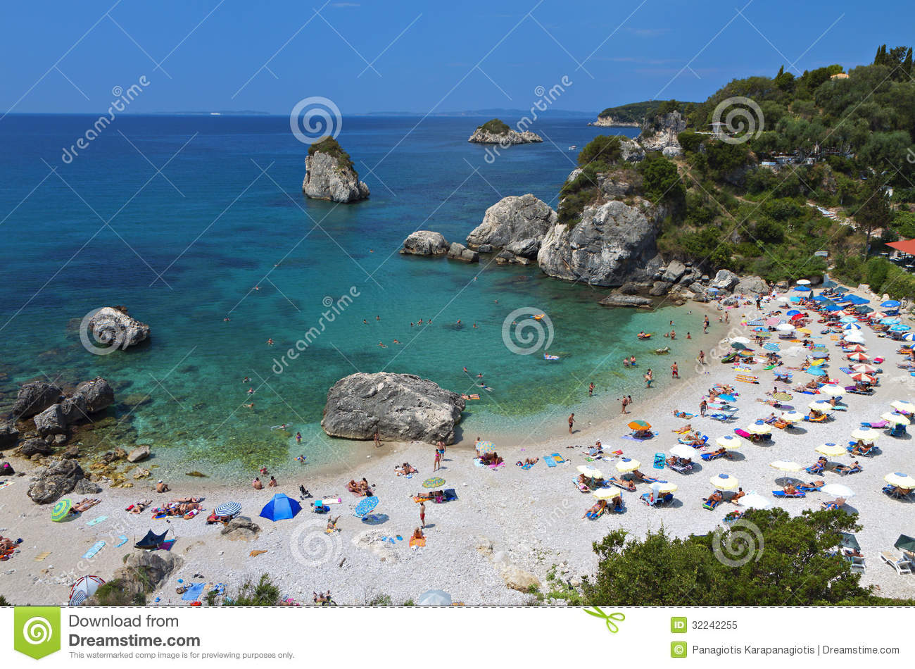 Piso Kryoneri Beach At Parga, Greece Royalty Free Stock Photo - Image ...