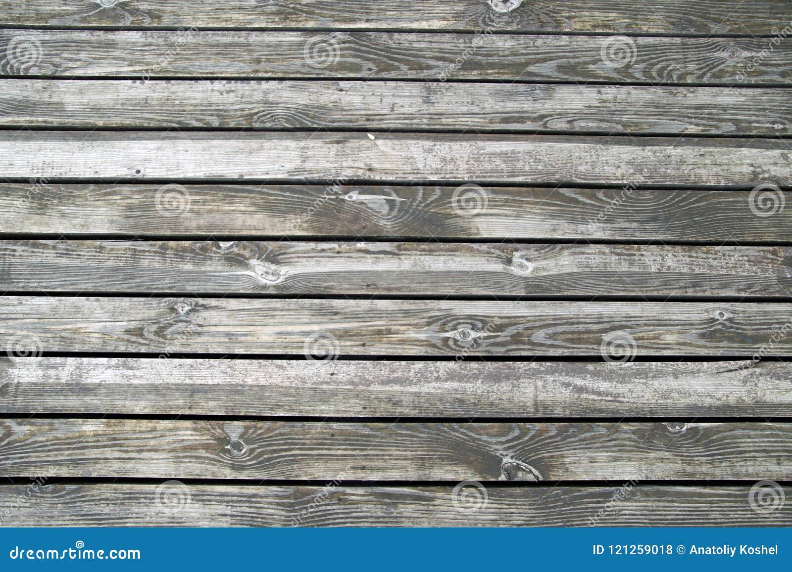 Pisos De Madera De La Terraza En La Orilla Del Río Textura
