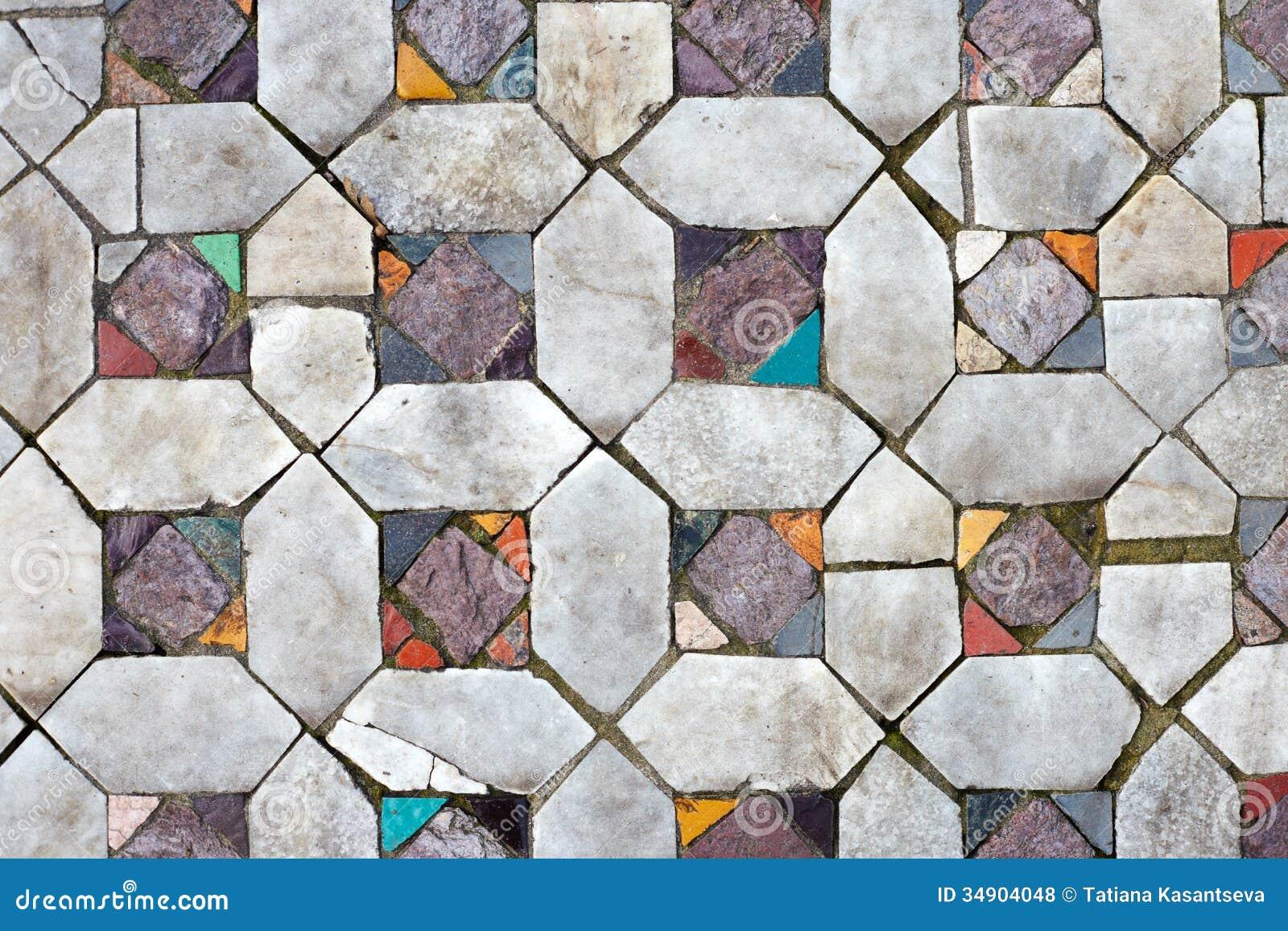 Pisos de mosaico antiguos primer de la textura fotos de for Mosaicos para pisos precios