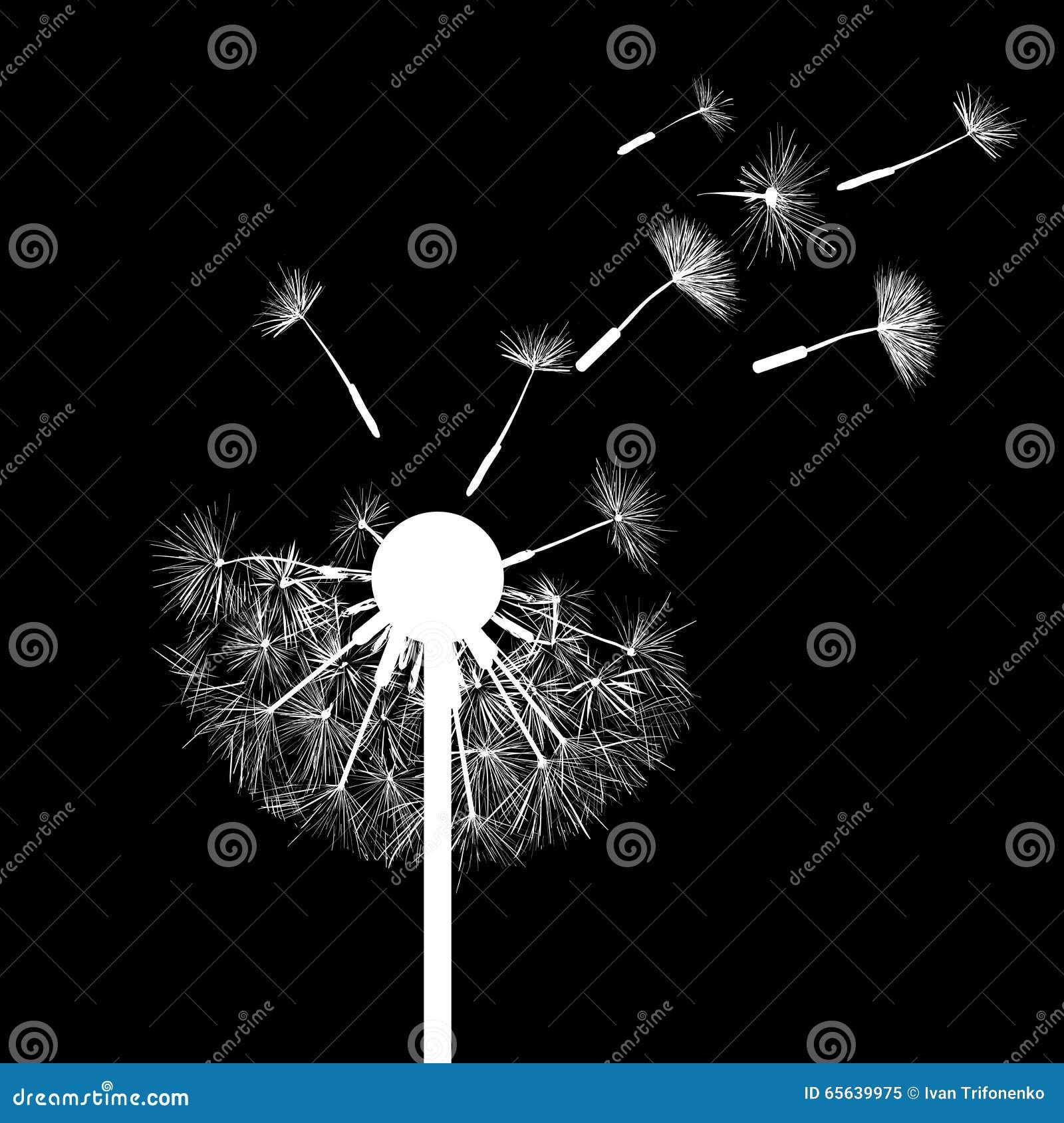 Pissenlit parmi des fleurs Illustration courante
