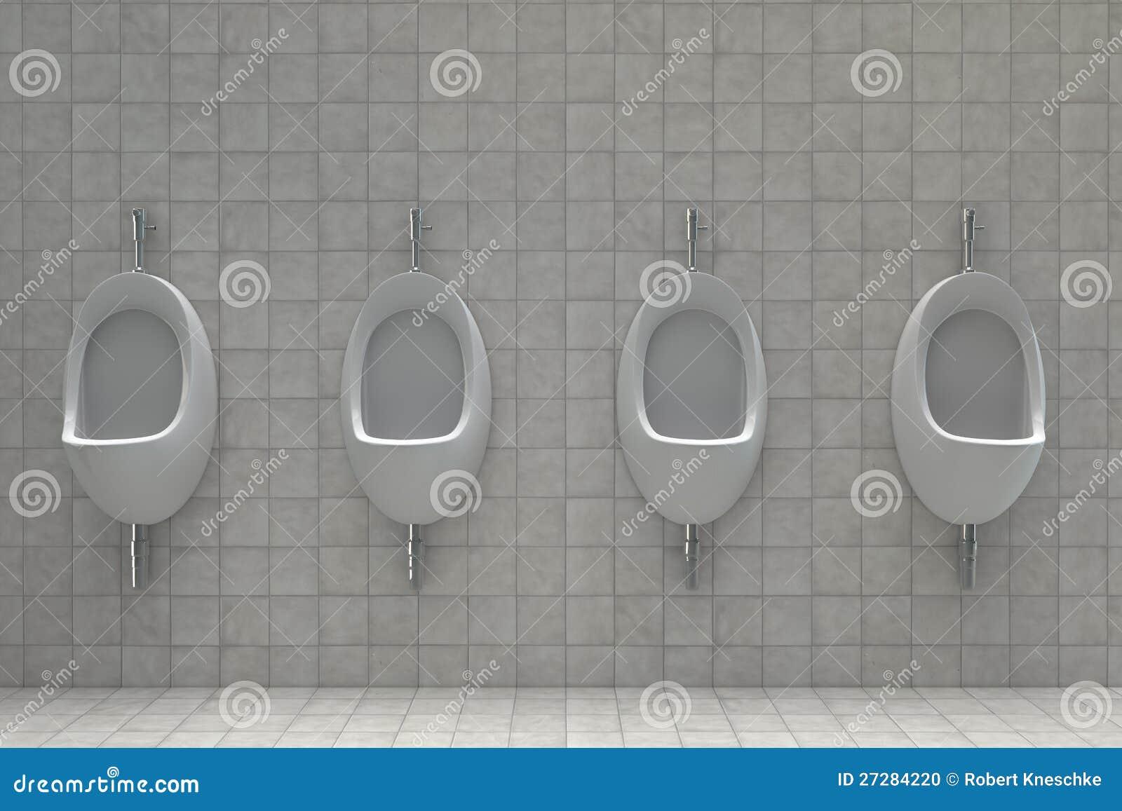 Pissoarer i en offentlig toalett