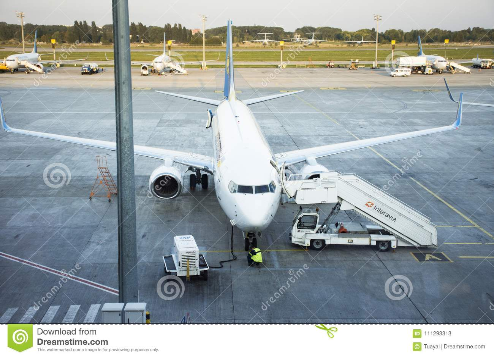 Aeroporto Kiev : Pista de decolagem do aeroporto internacional de kiev boryspil em