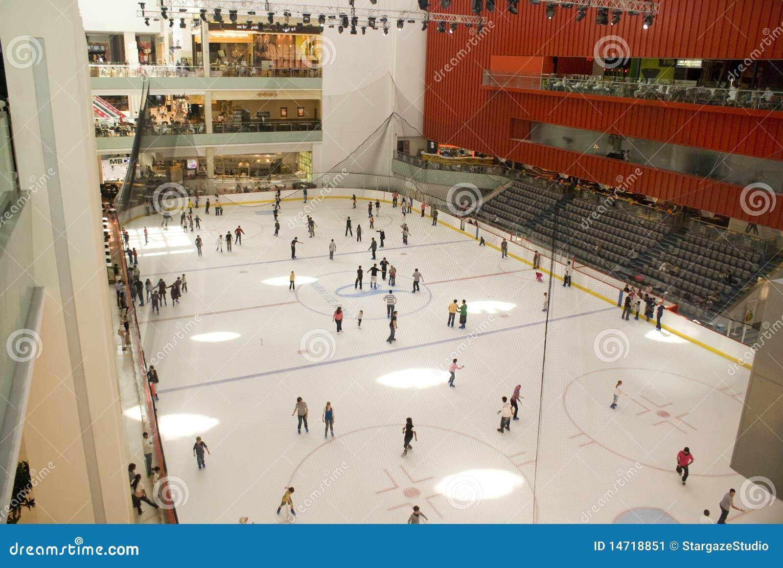 Pista de gelo da alameda de Dubai