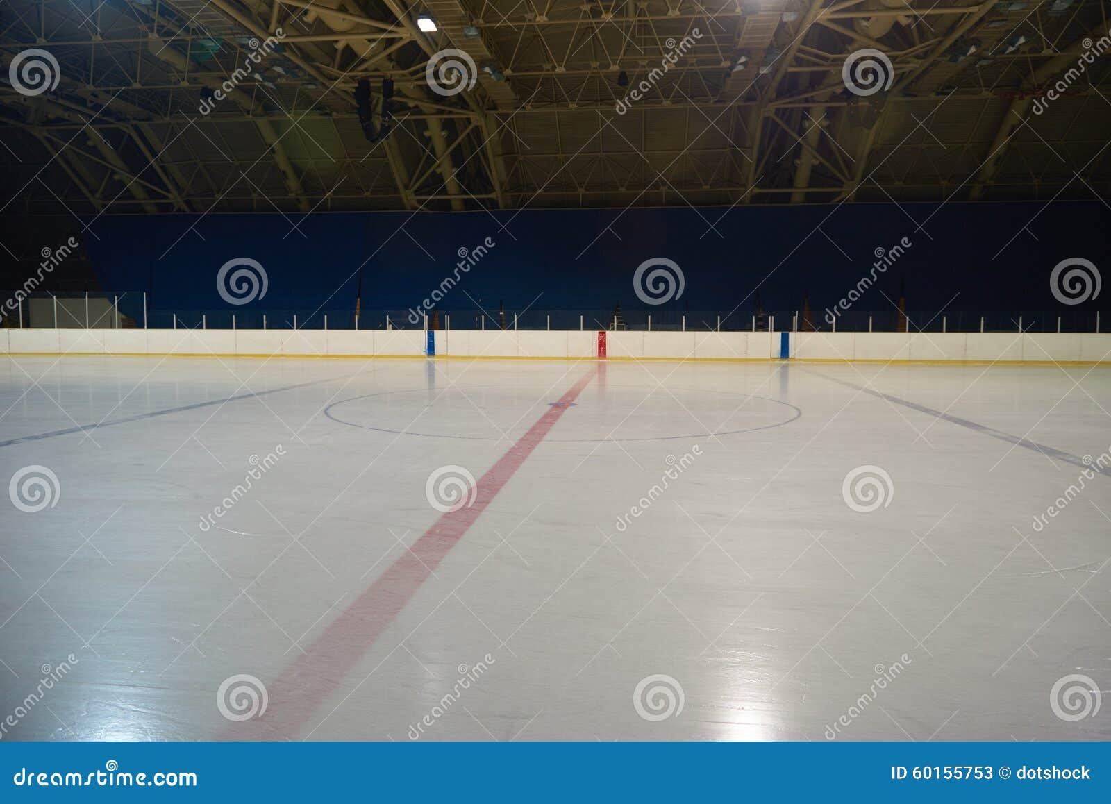 Pista De Hielo Vacía, Arena Del Hockey Imagen de archivo - Imagen de ...