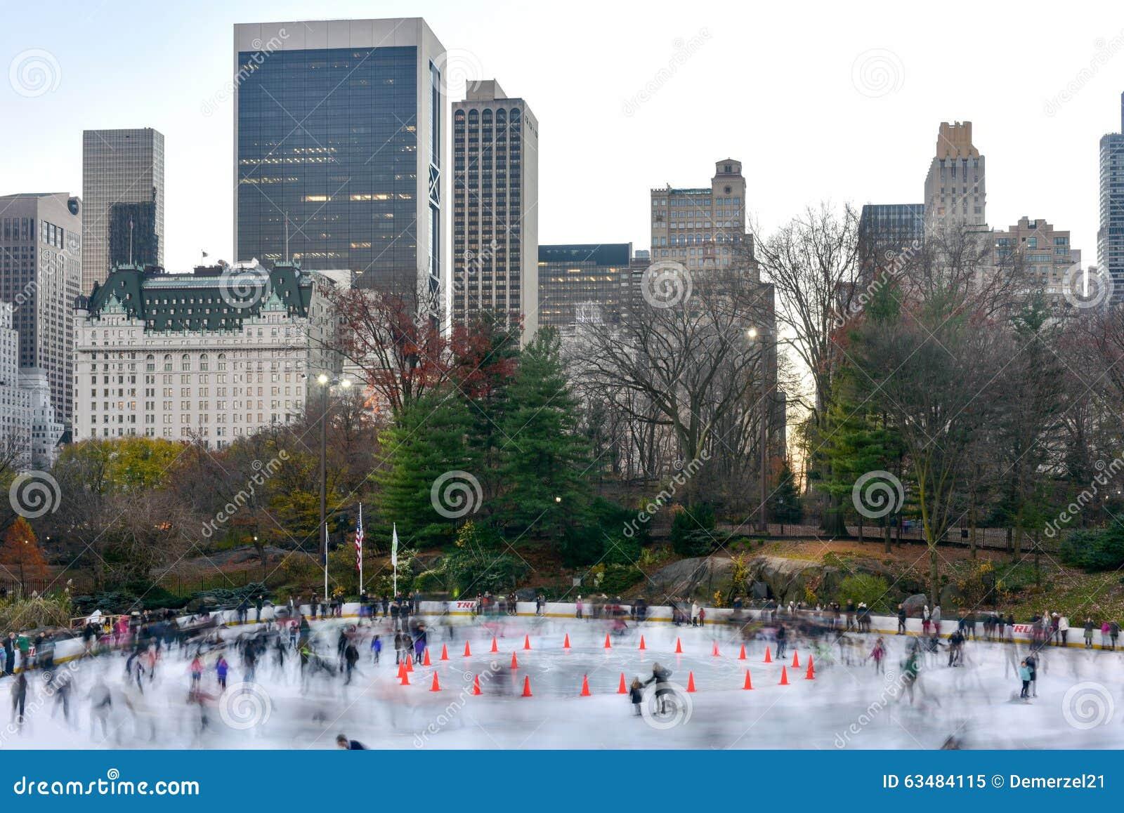 Pista De Patinaje De Wollman - Central Park - NYC Imagen editorial ...