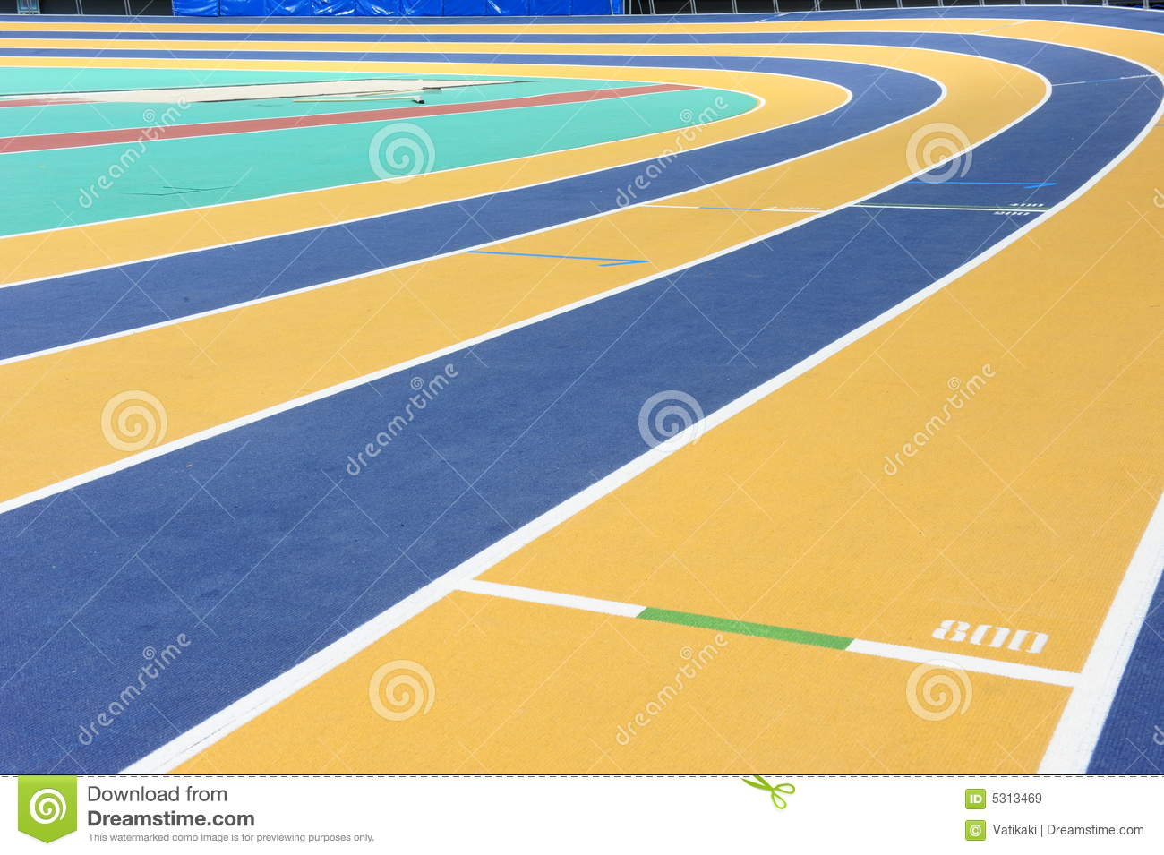 Download Pista Dell'interno Di Atletismo Immagine Stock - Immagine di salto, evento: 5313469