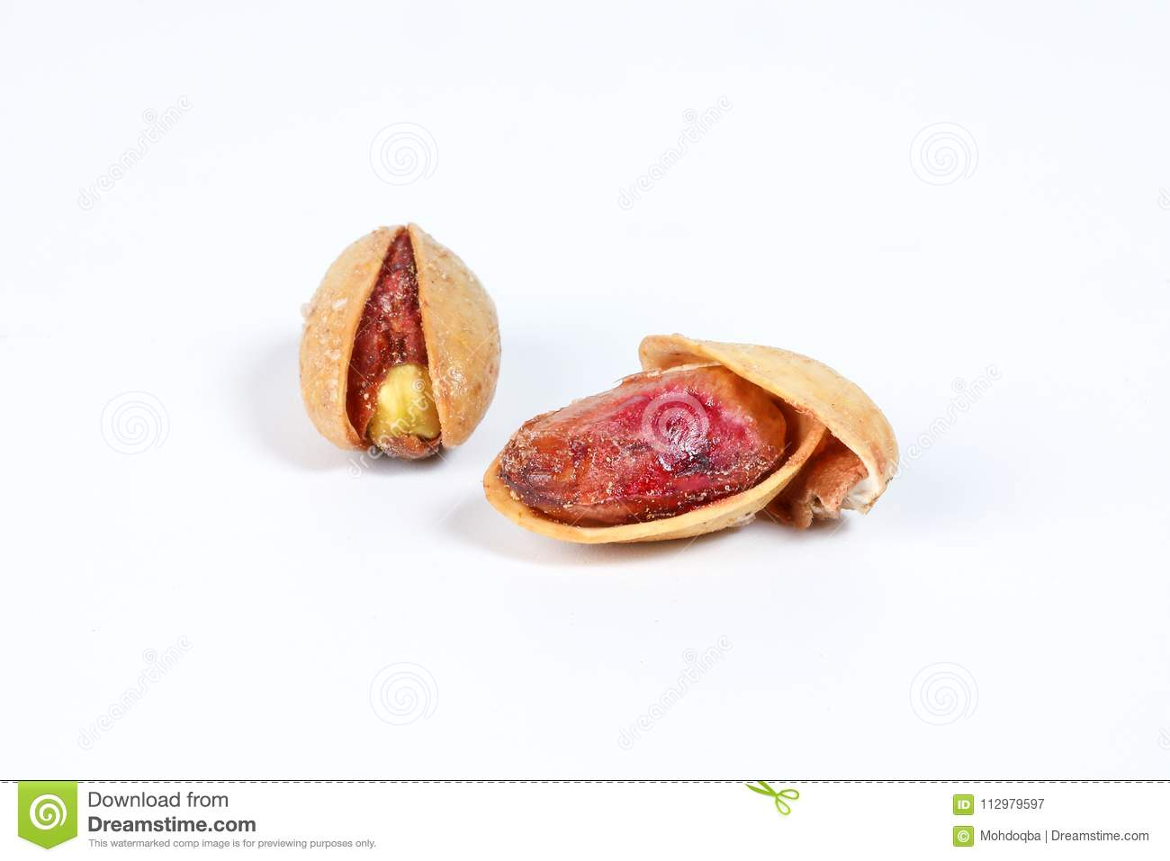 Pistachio nuts shell