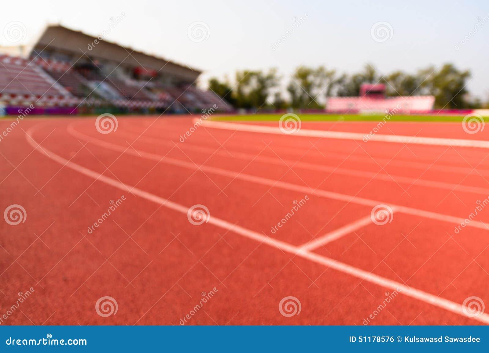 Pistas de atletismo e anfiteatro borrados