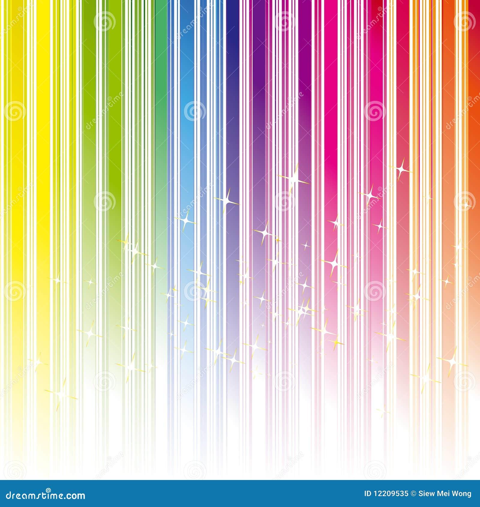Piste abstraite de couleur d arc-en-ciel avec des étoiles