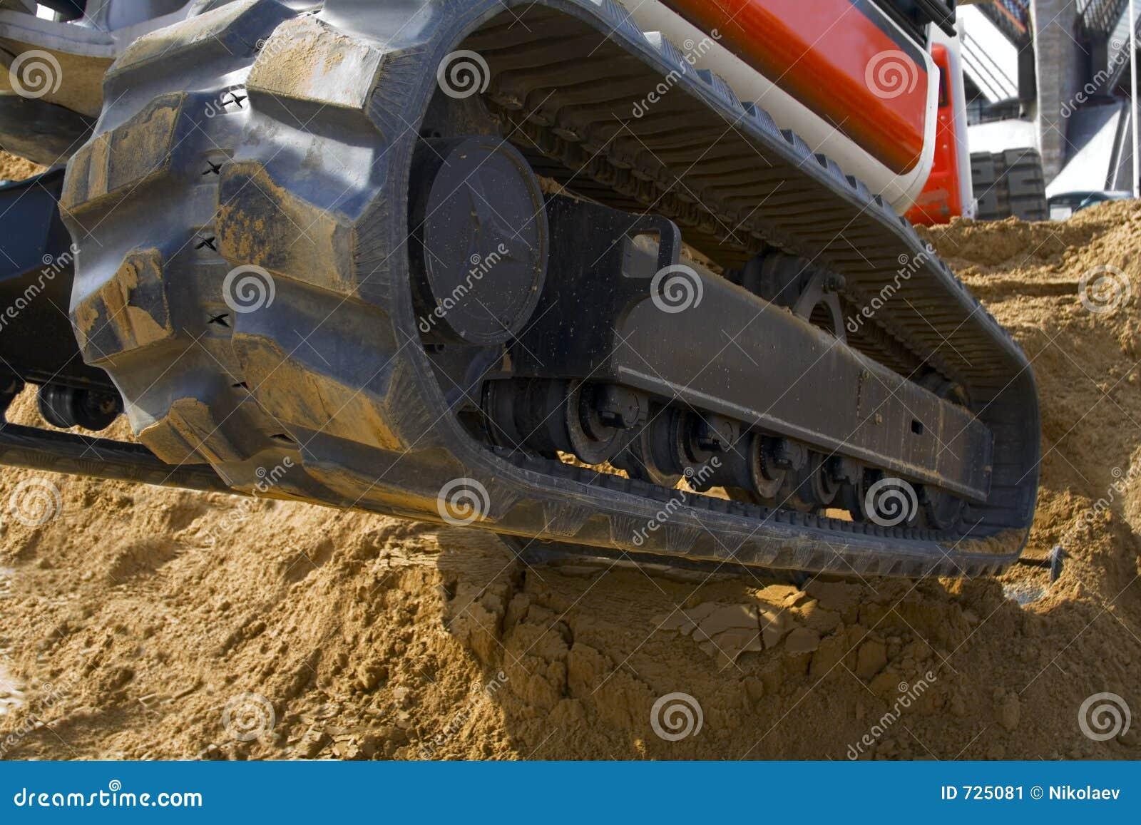 Piste d excavatrice