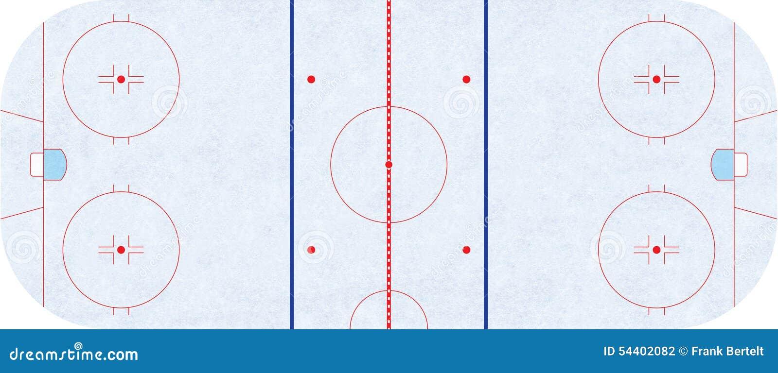 Piste de hockey sur glace - NHL de règlement