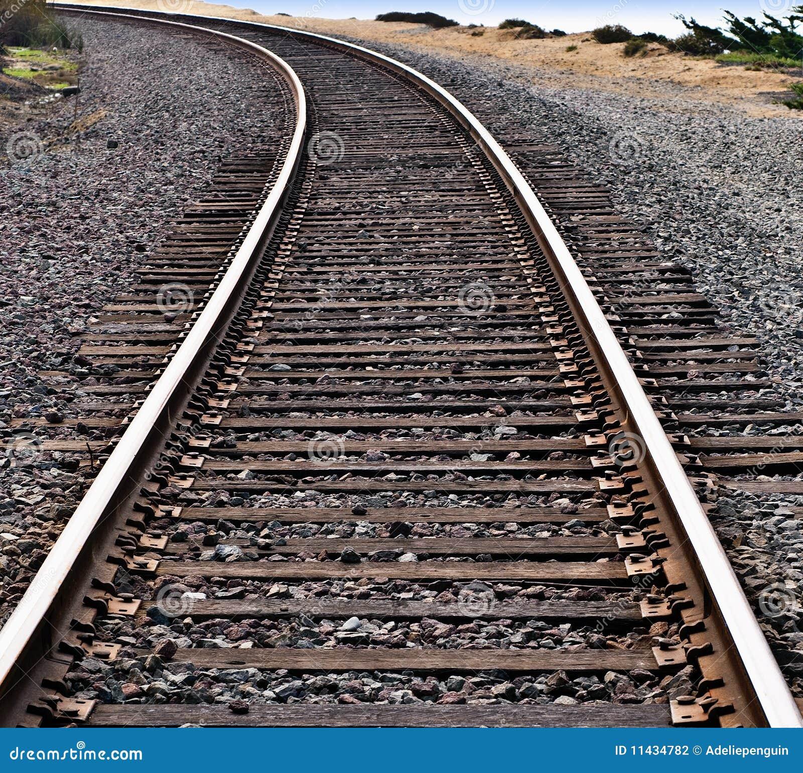 Pistes de train autour d une courbe