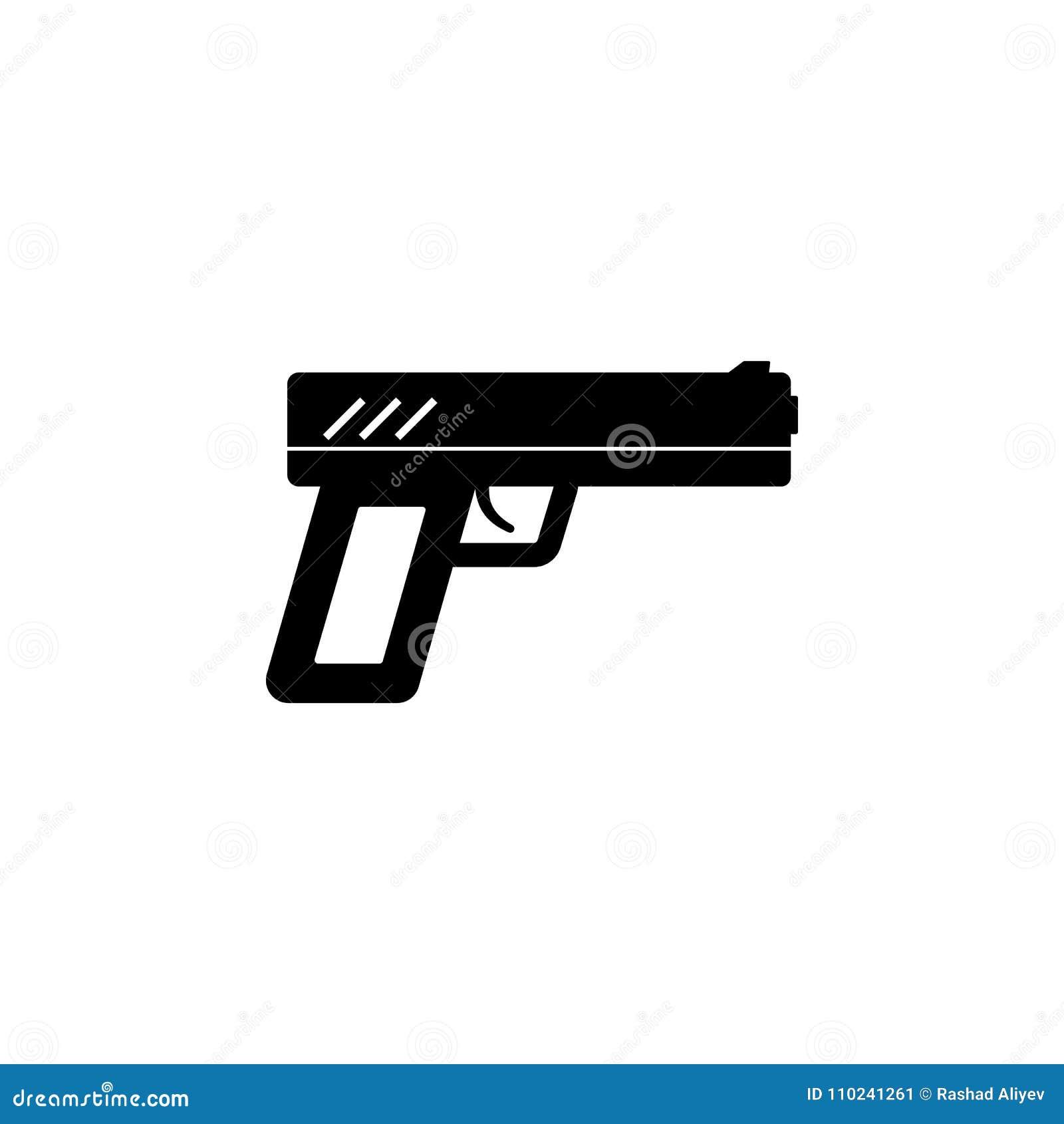 Pistol Icon Illustration Of A Criminal Scenes Icon Premium Quality