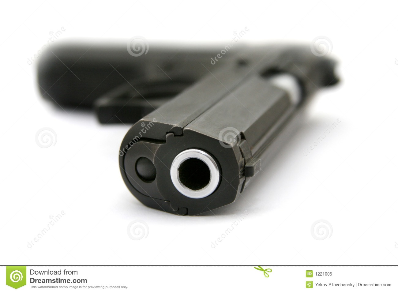 The Pistol Laying On A Table Royalty Free Stock Photo ...