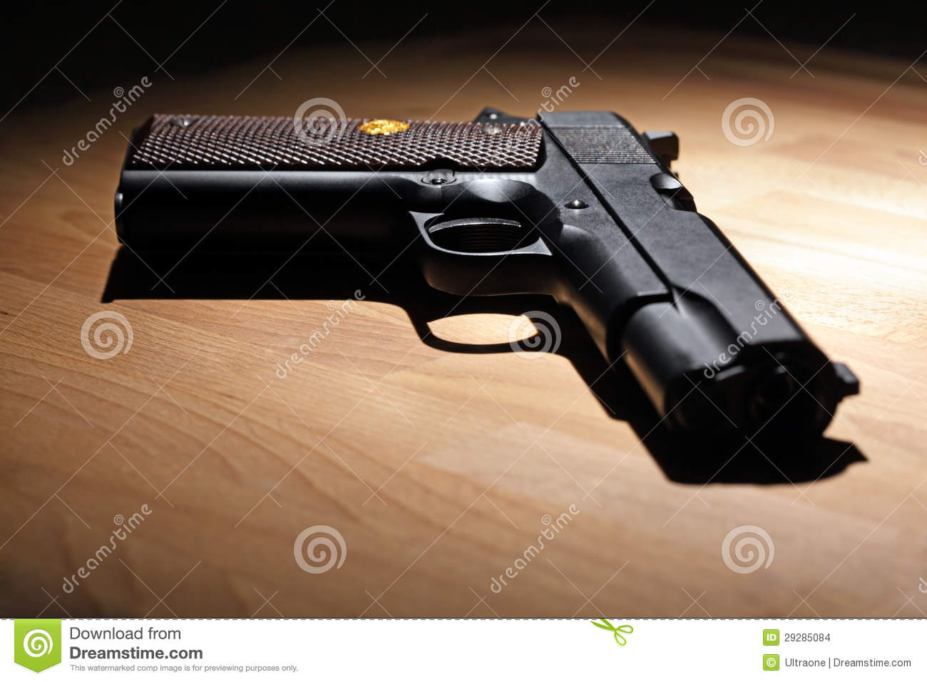 Pistol On The Table Stock Images - Image: 29285084