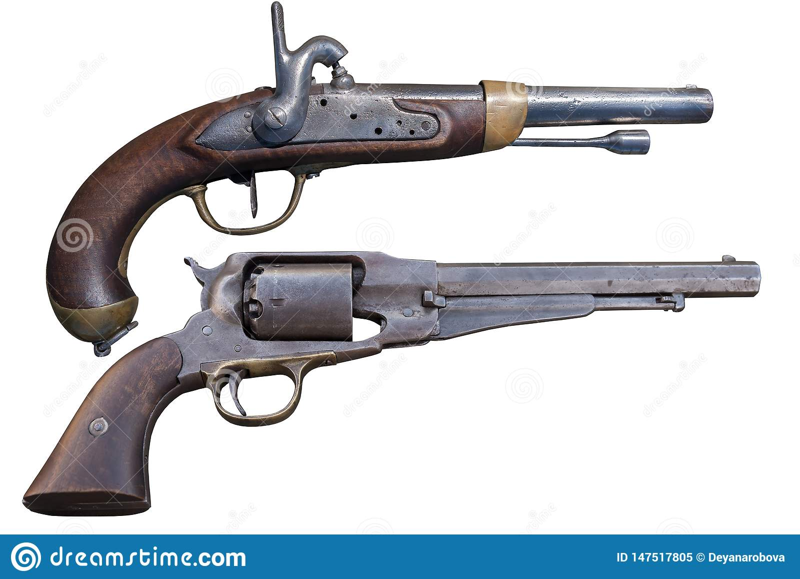Pistola antiga da arma