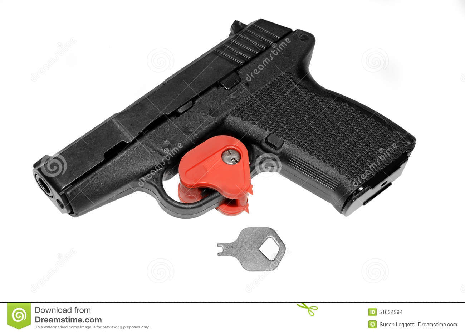 Pistola bloqueada