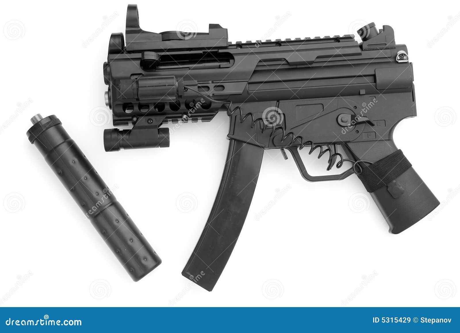 Download Pistola Con Il Silenziatore Immagine Stock - Immagine di guerra, arma: 5315429
