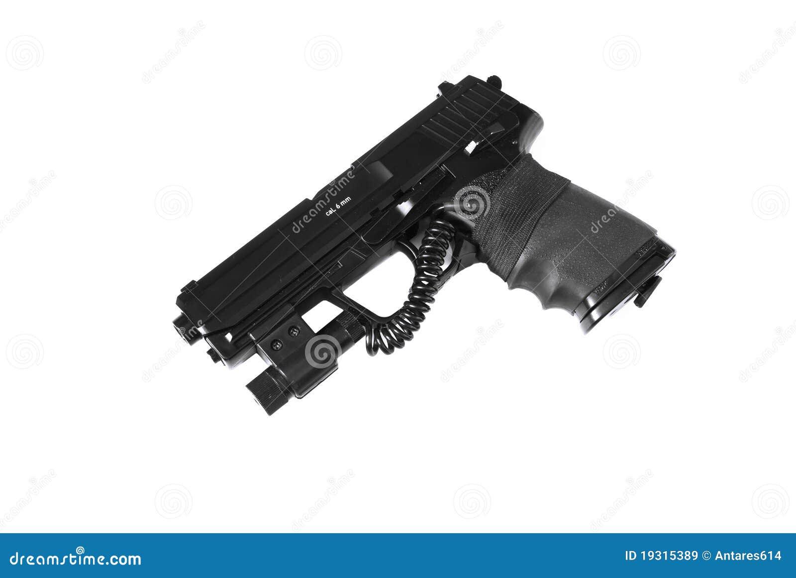 Pistola con vista del laser