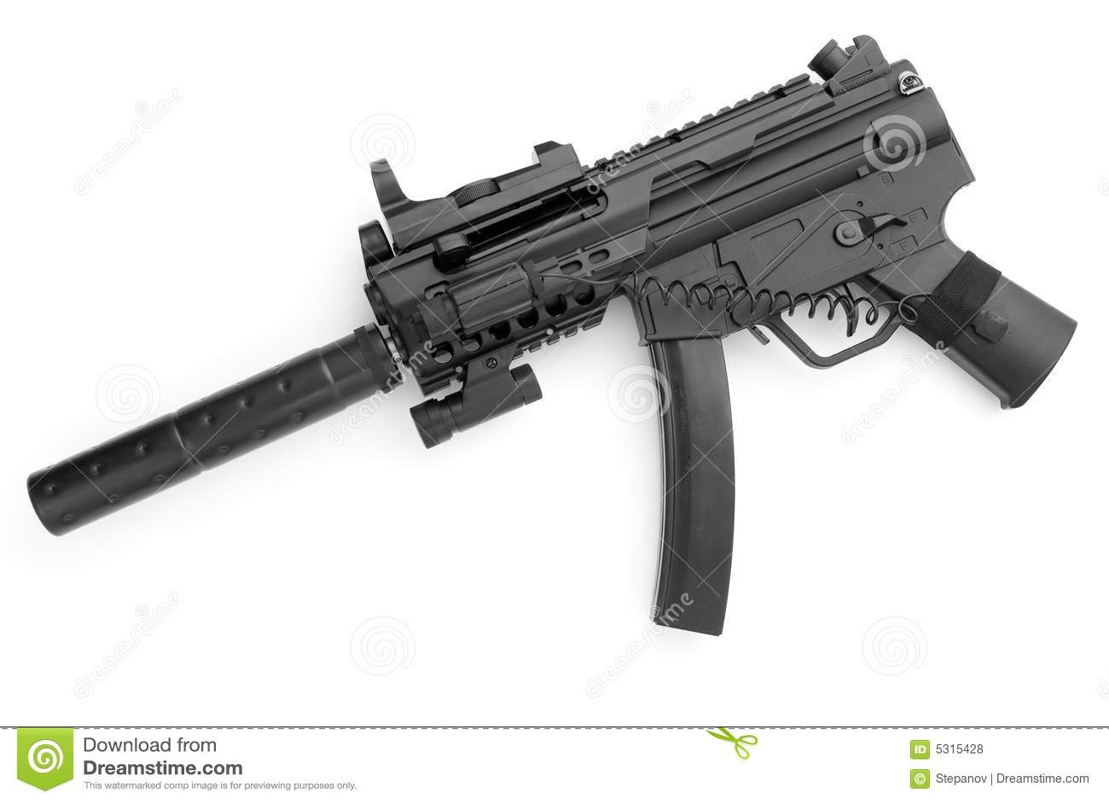 Download Pistola di Tommy fotografia stock. Immagine di omicidio - 5315428