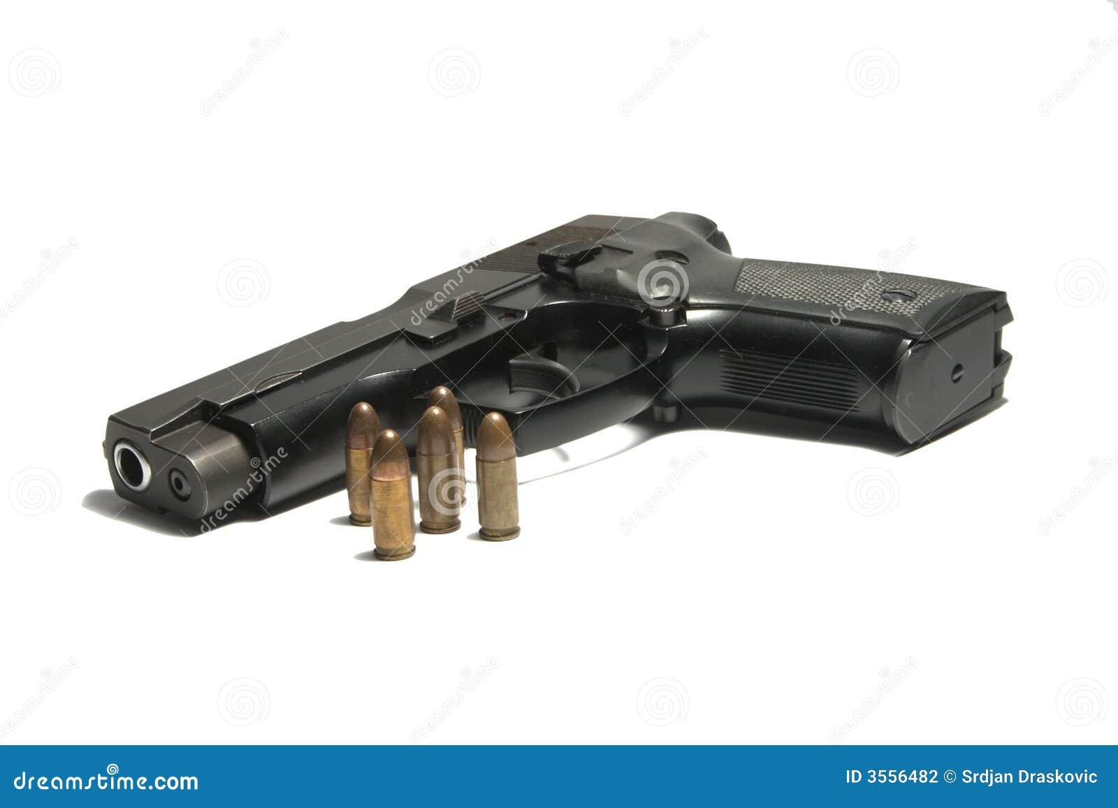 Pistola e bulets 9 millimetri para