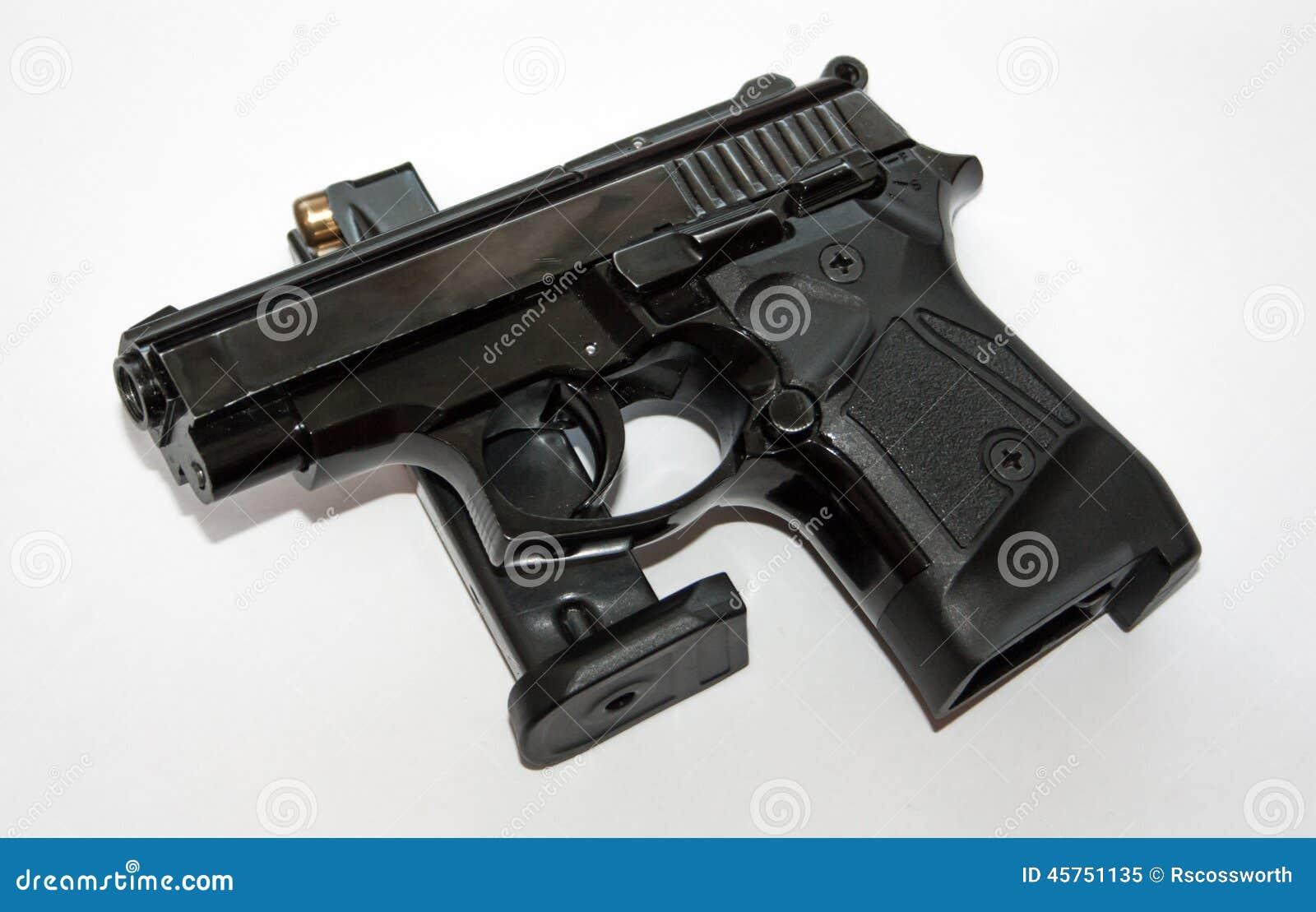 Pistola e rivista nere