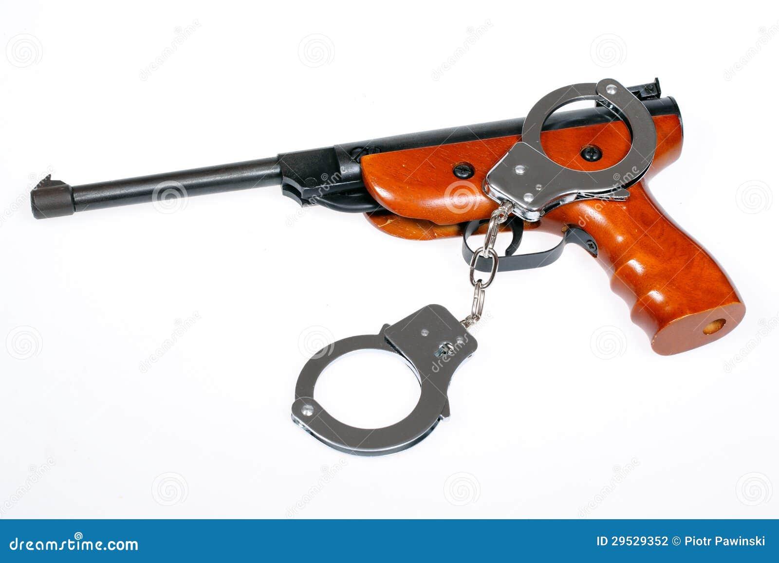 Pistola pneumática com algemas