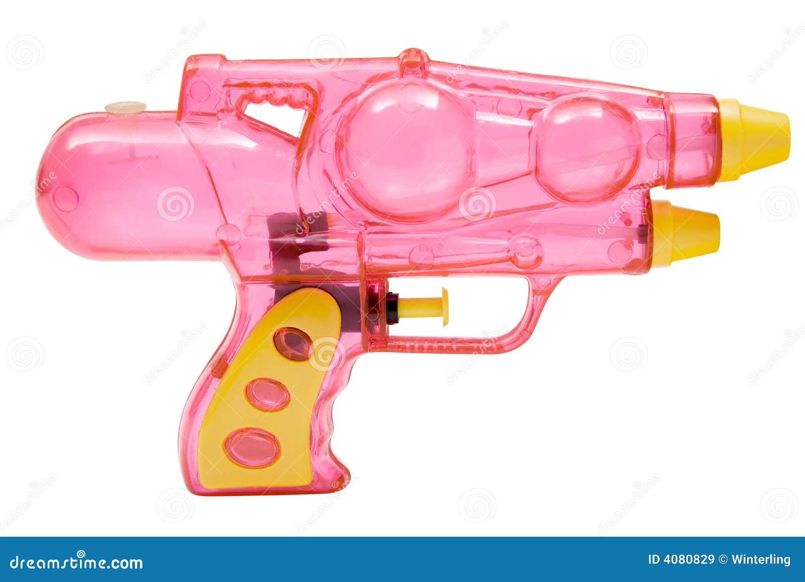 pistolet d 39 eau rose images libres de droits image 4080829. Black Bedroom Furniture Sets. Home Design Ideas