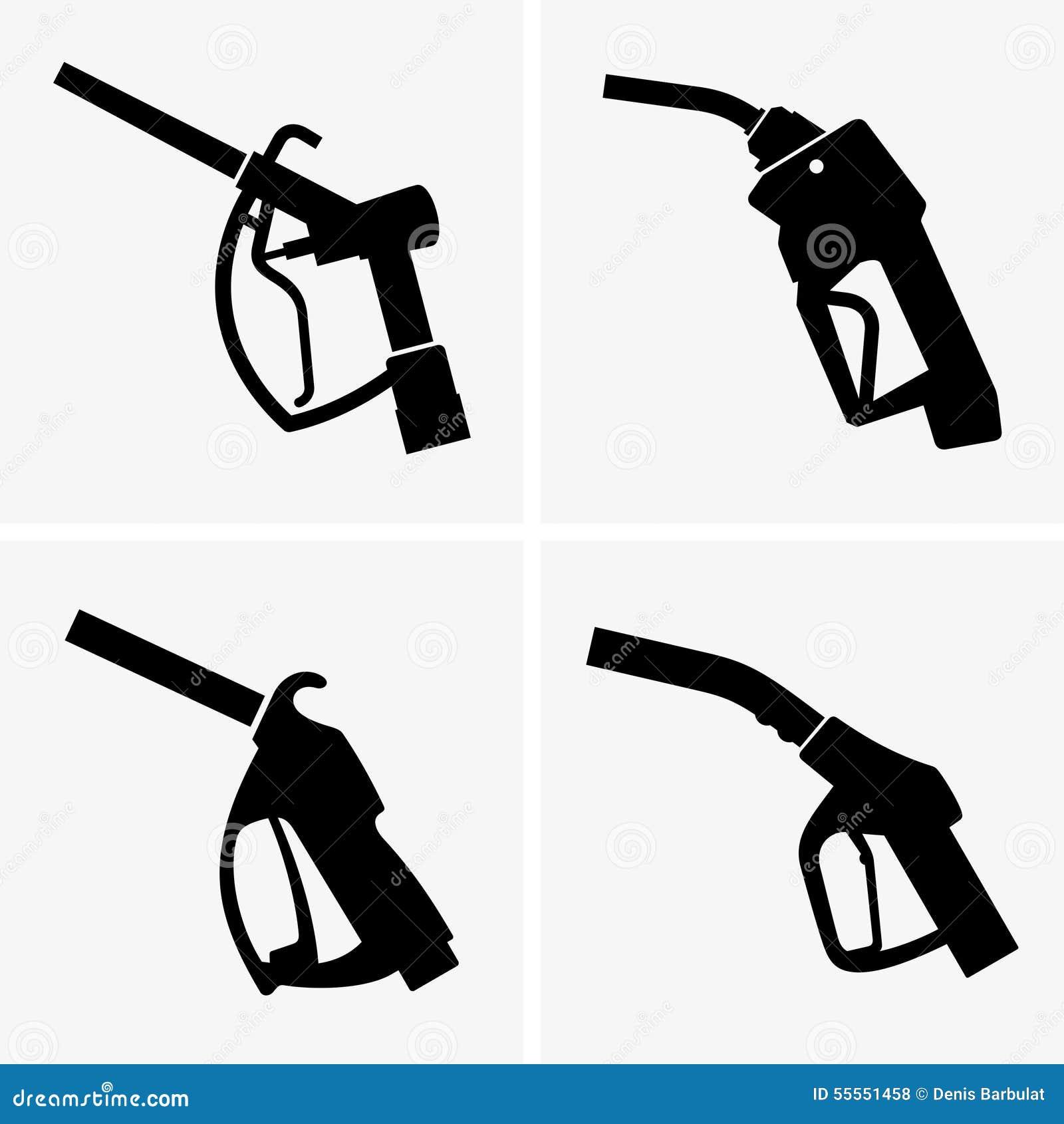 Pistolet de pompe gaz illustration de vecteur image - Pistolet a essence ...