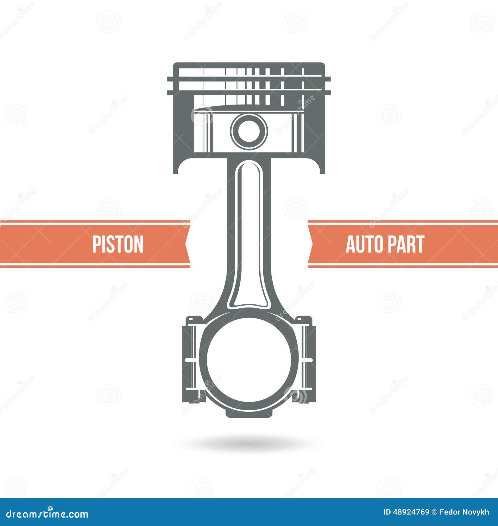 piston de moteur de voiture illustration de vecteur image 48924769. Black Bedroom Furniture Sets. Home Design Ideas