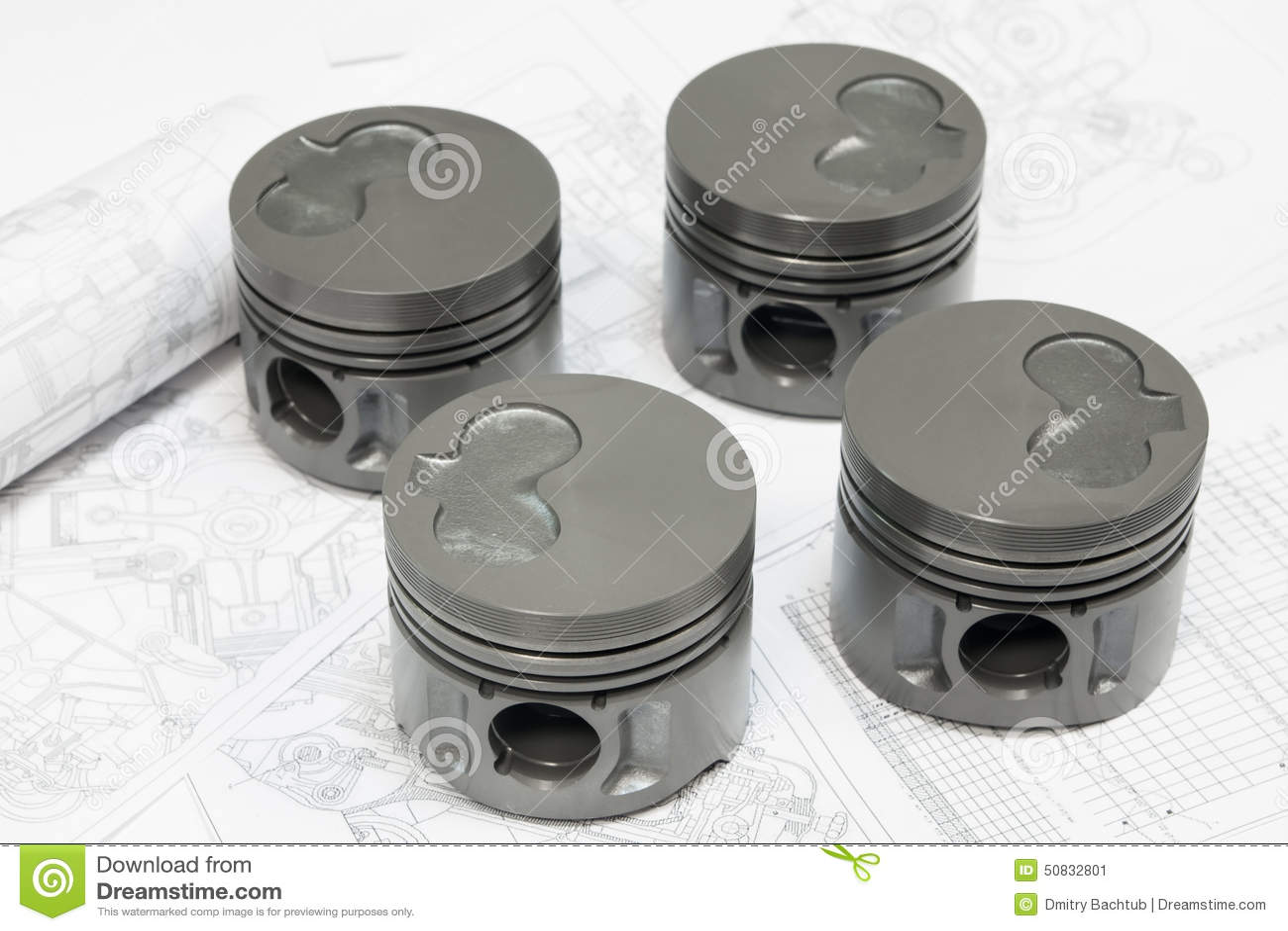 pistons de moteur de voiture photo stock image 50832801