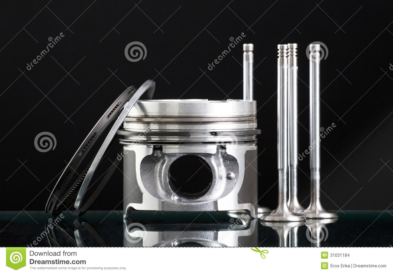 pistons isolated on black stock images image 31031184. Black Bedroom Furniture Sets. Home Design Ideas