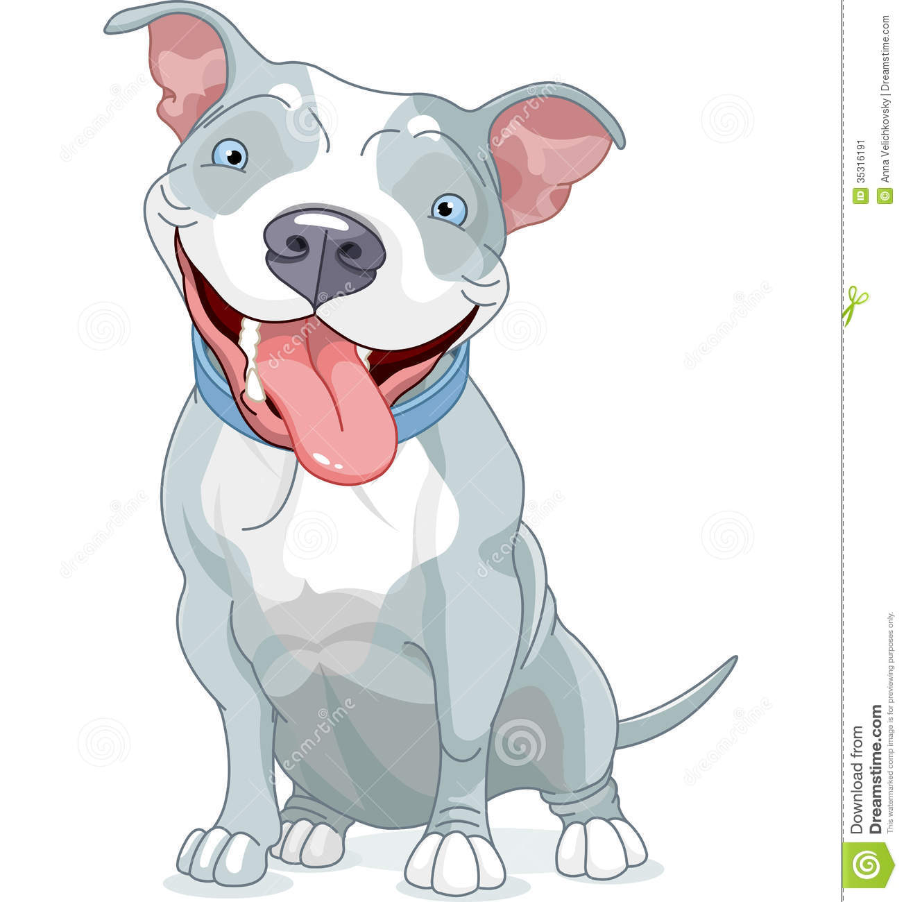 Cartoon Pitbull Dog | Dog Breeds Picture