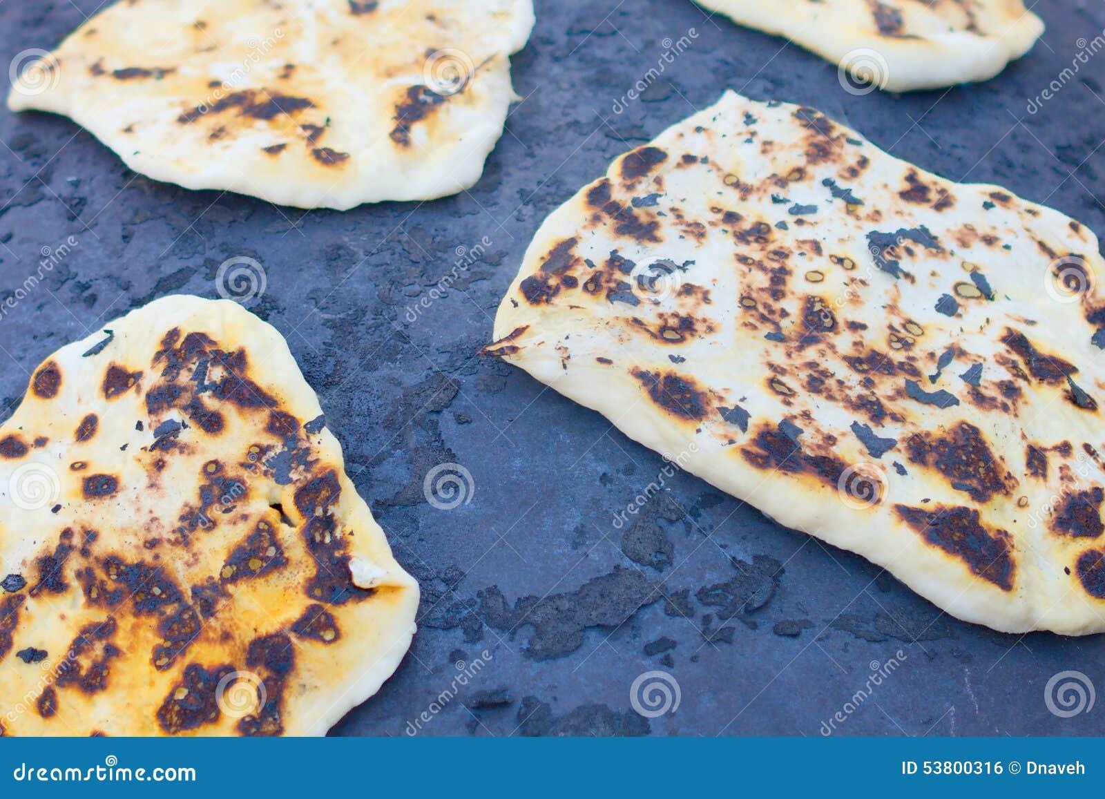 Pitabroodjebaksel op een Saj of een Tava