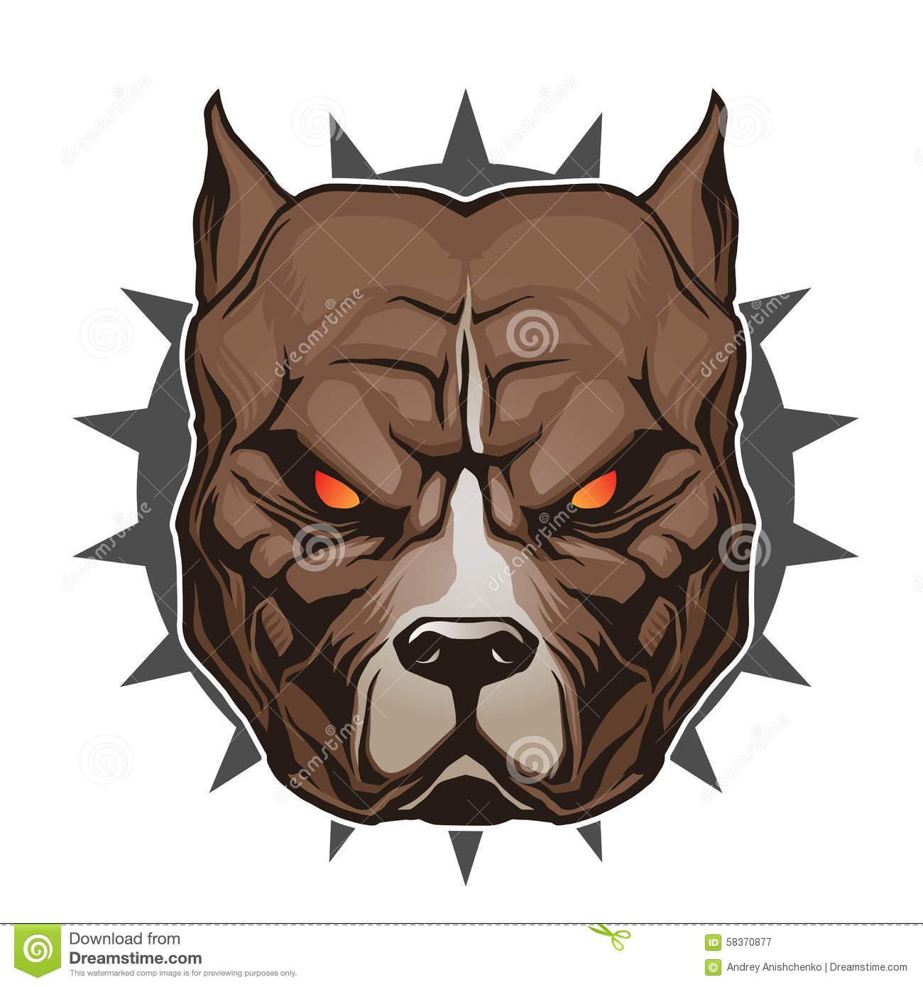 Pitbull Head Stock Vector. Illustration Of Element, Canine