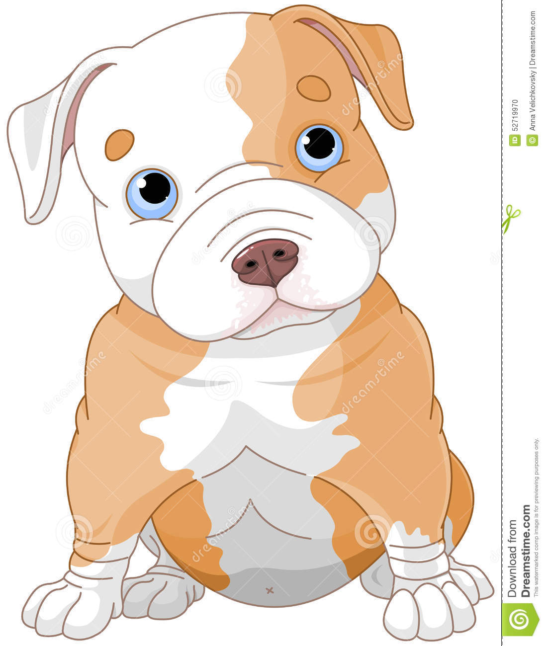 Pitbull Puppy Stock Vector - Image: 52719970