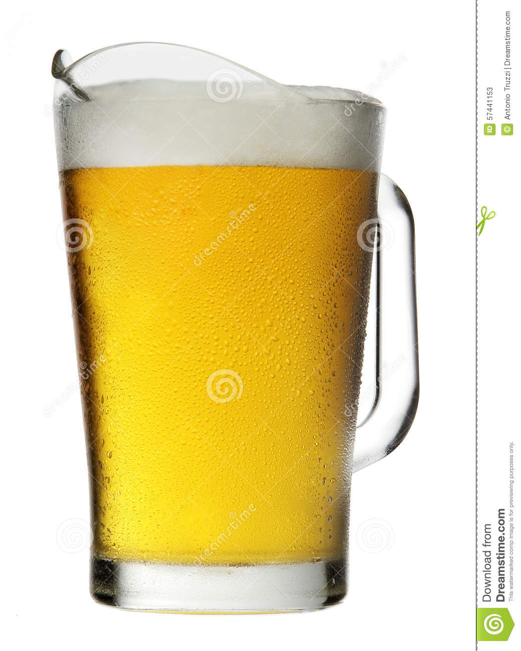 Pitcher Of Beer With Foam Stock Photo - Image: 57441153