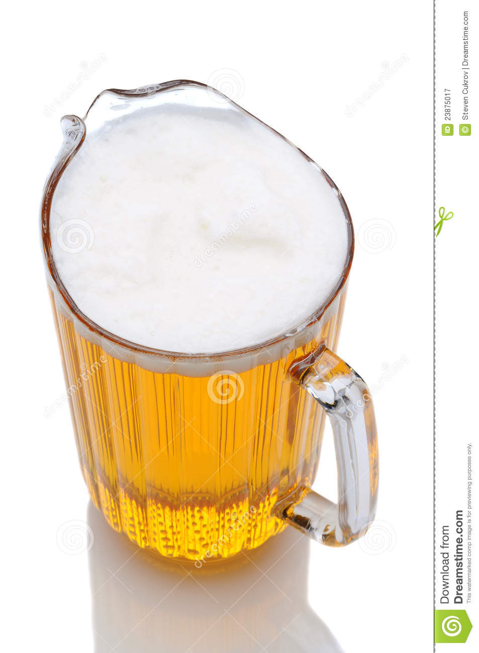Pitcher of Beer High Angle