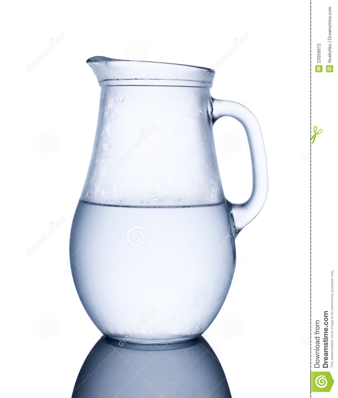 pitcher of cold water stock photo image of drop bright 23058972