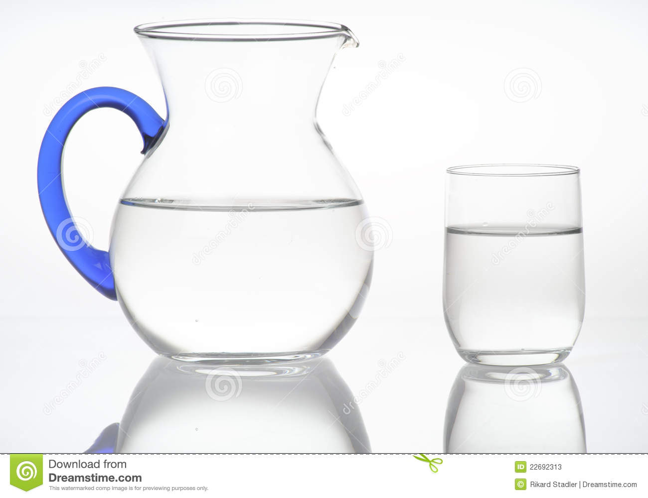 pitcher and glass of water stock photos image 22692313
