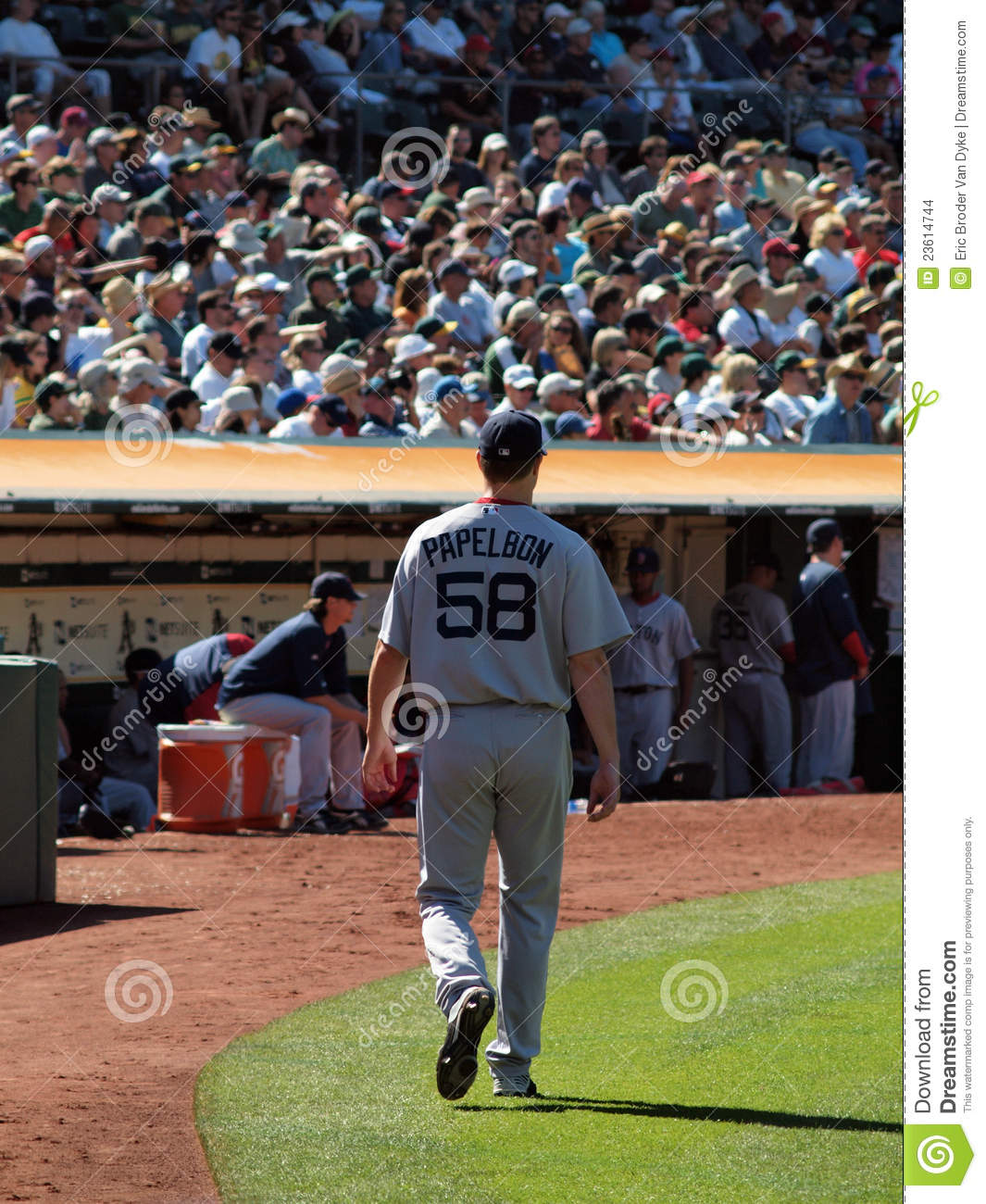 Download Pitcher Jonathan Papelbon Walks Towards The Dugout Editorial Stock Image - Image of ball, hill: 23614744
