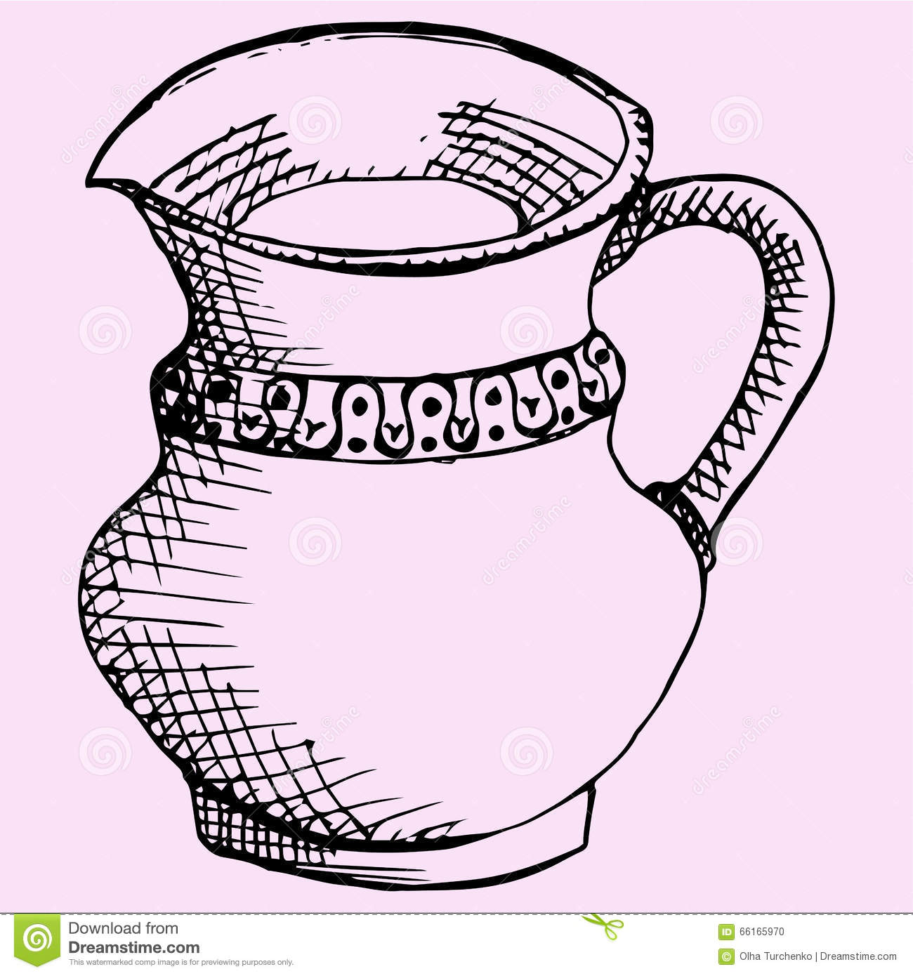 coloring pages pitcher of water - photo#14