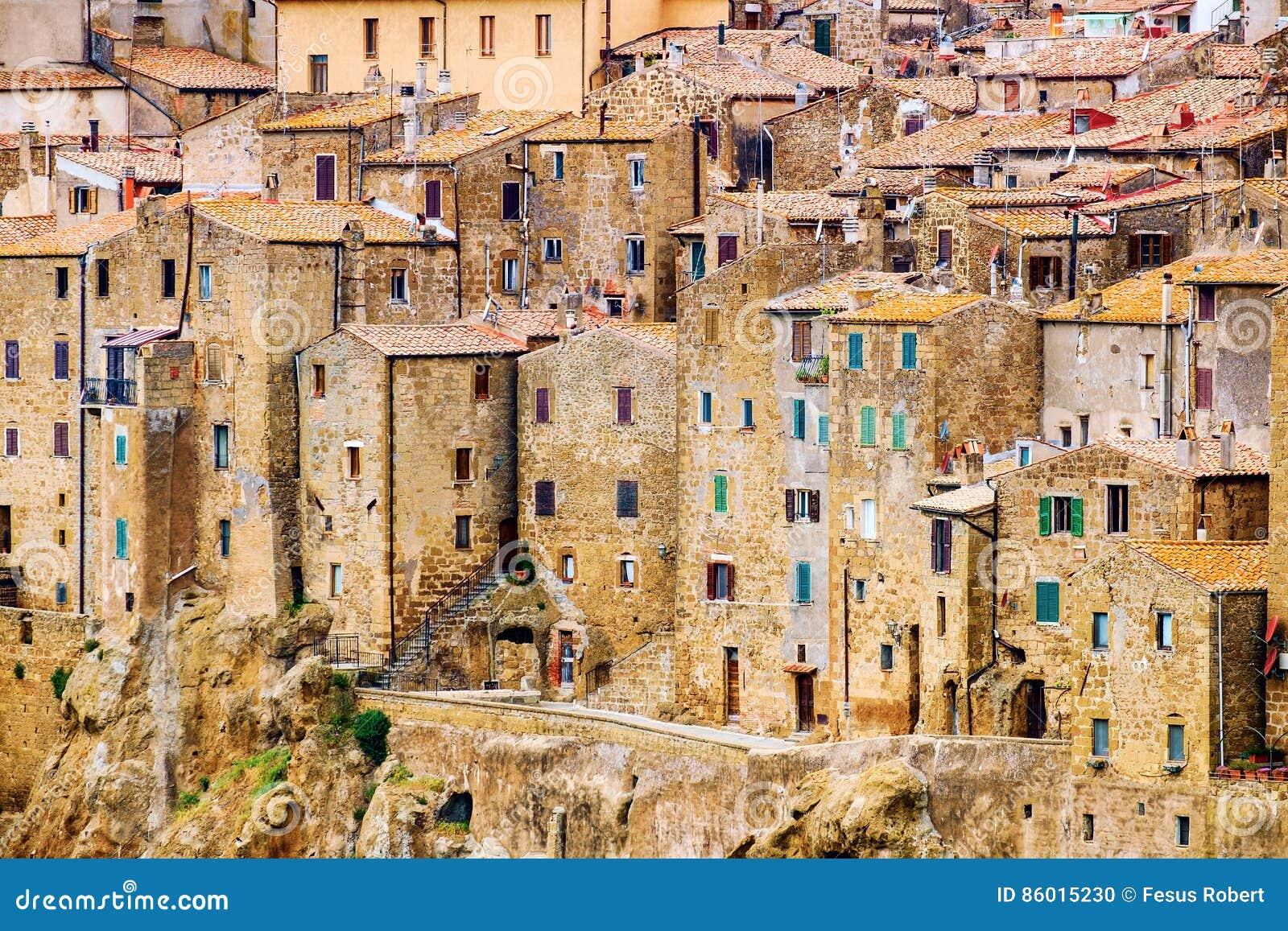 Pitigliano stad Tuscany Italien