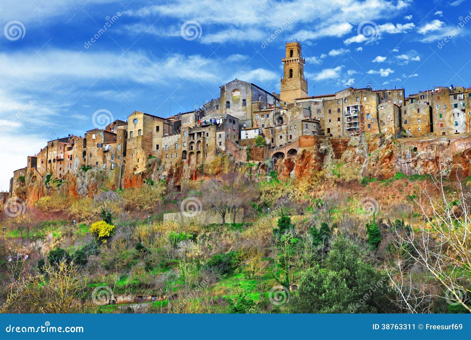 Pitigliano Tuscany, Italien